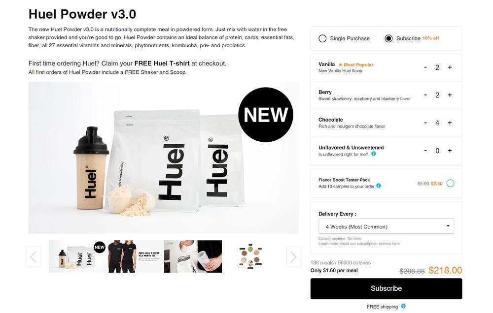 5 Shopify D2C Manufacturers - Huel.