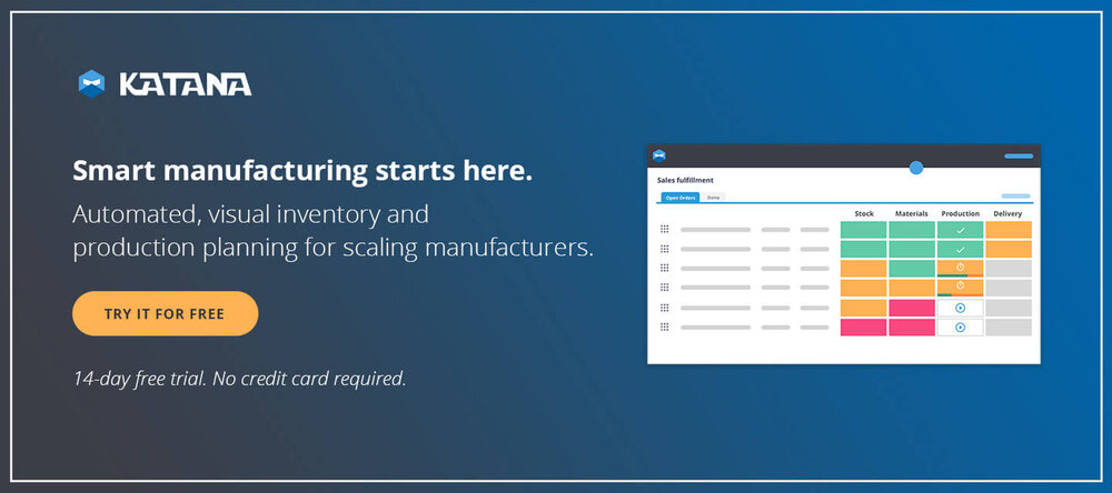 Katana Smart Manufacturing Software lets you add different process steps to specific product variants.