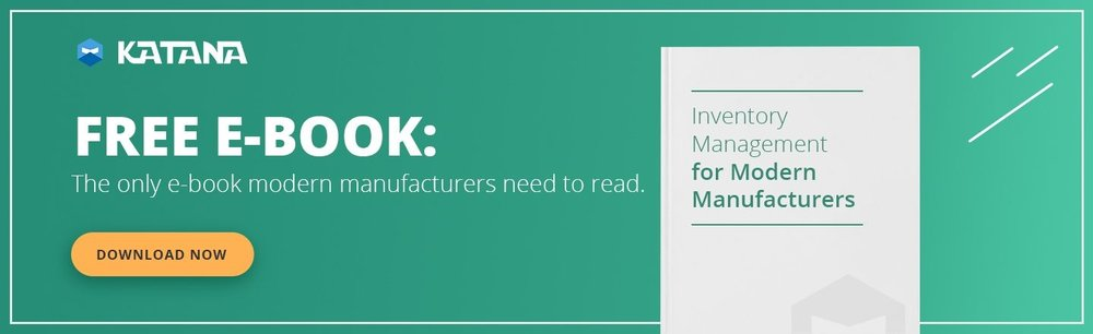 Inventory management e-book for modern manufacturers.