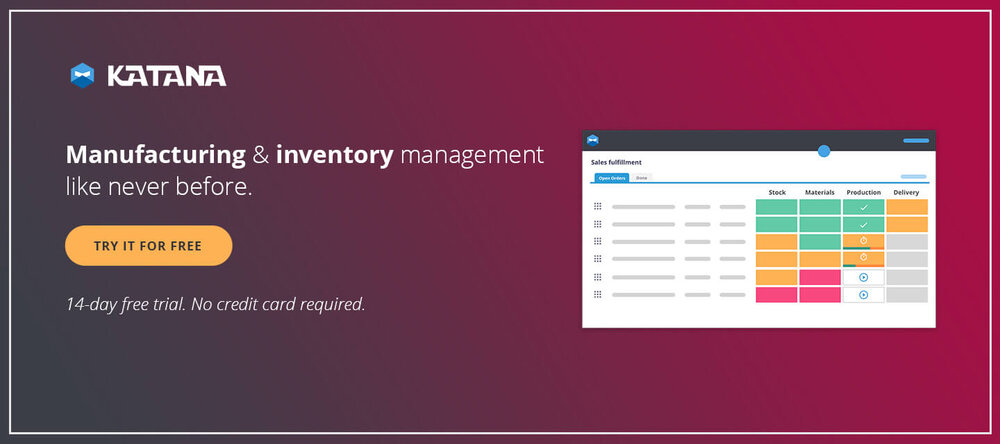Manufacturing and inventory management with Katana.