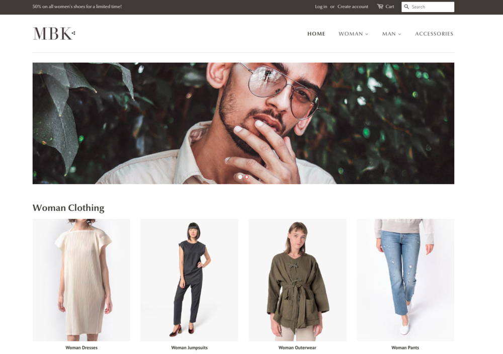 Here's one of the best Shopify themes for you, Minimal. It's simple and keeps your customers comfy, if that's what you're looking for.