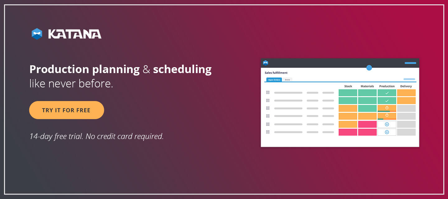 Production planning and scheduling made effortless with Katana.