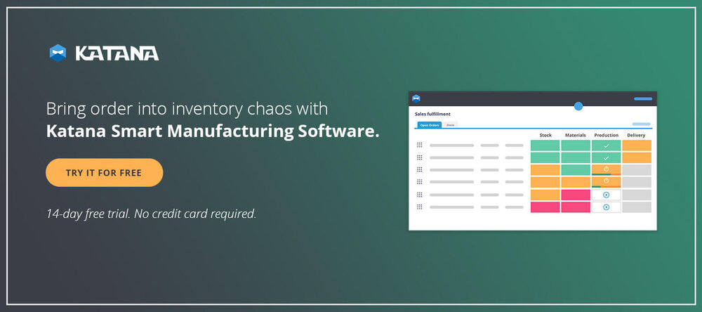 QuickBooks for manufacturing business needs to run Smart Manufacturing Software with Katana to be able to handle the backend of your business.