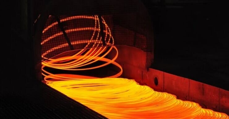 Steel smelting is a perfect example of something that is manufactured with continuous production. The liquid steels enters the process at one end of the factory, and uninterrupted travels through the factory, until it becomes the intended final product.