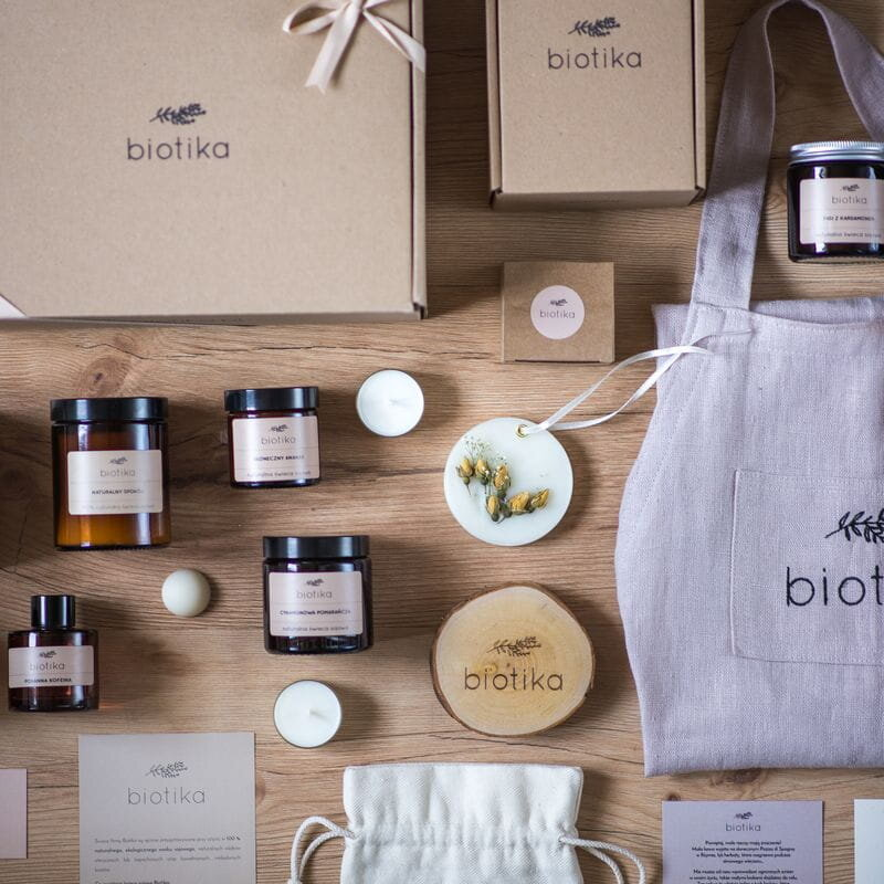 The simple and consistent branding by Biotika works so well because it's so memorable. These kind of minimal packaging ideas often work best for handmade items.