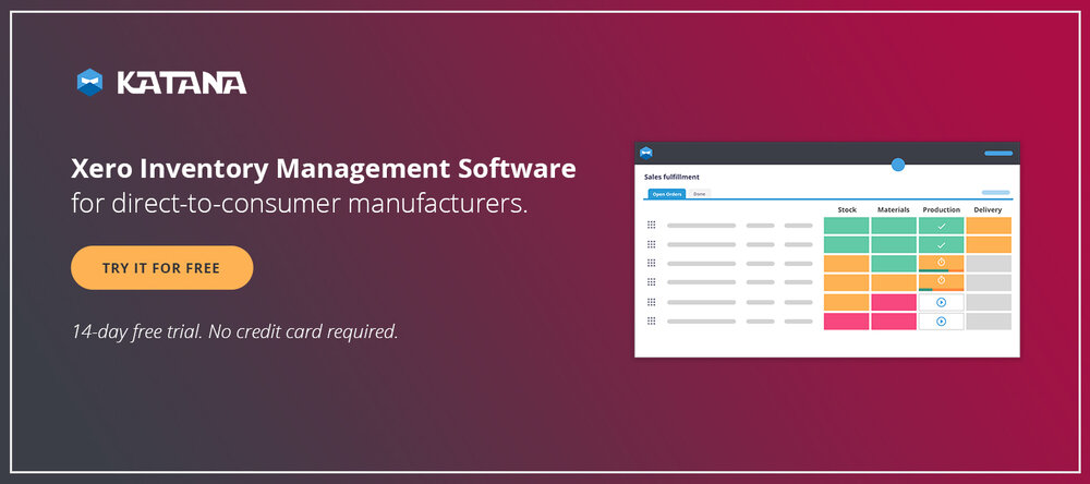 Xero Inventory Management Software for manufacturers.